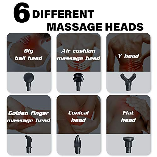 Electric Massage Gun - Rechargeable Massager for Relaxing Body Tissue - Quiet and Powerful with 2 Modes and 9 Gears