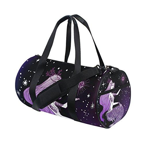 coosun Schöne Meerjungfrau Duffle Bag Handlich Sports Gym Bags Schultertasche für Männer und Frauen