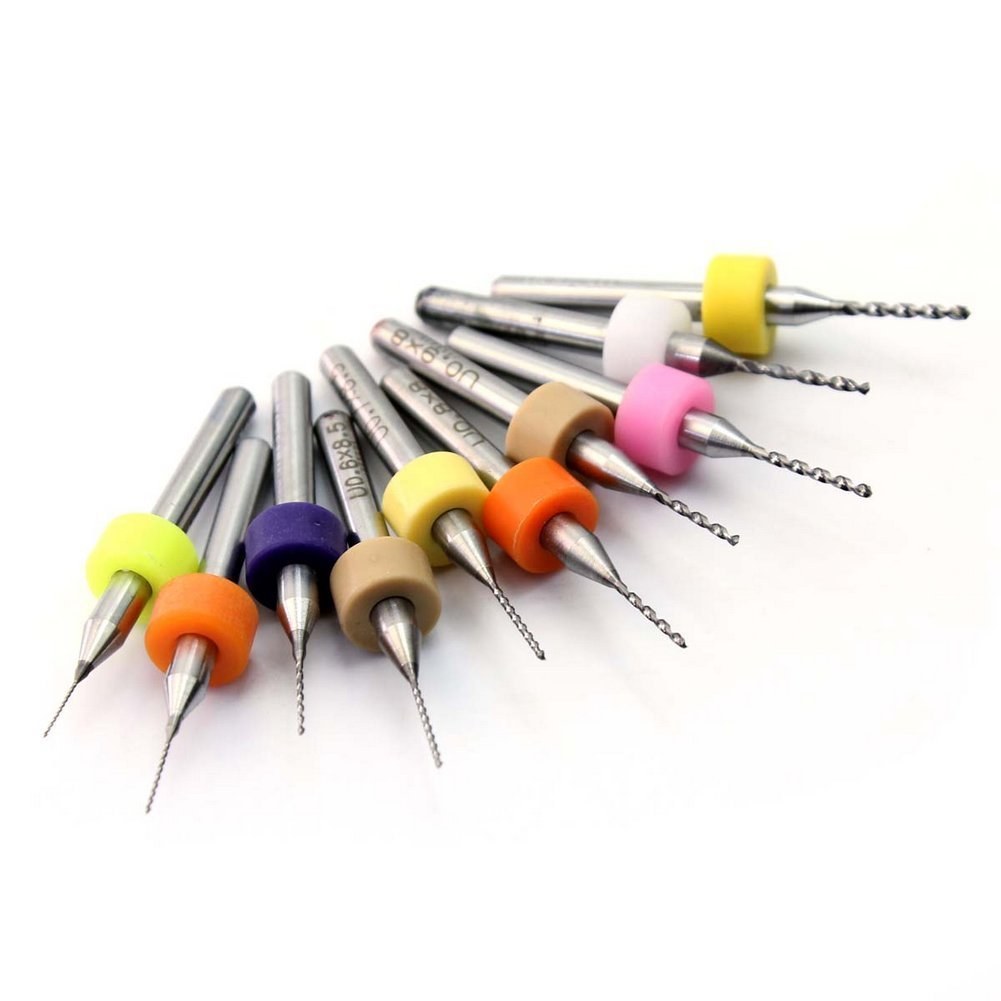 10 Pcs Useful Pcb Print Circuit Board Carbide Micro Drill Bits 03mm 15 July 2014 Diy Etching Of Printed Boards To 12 Mm Tools