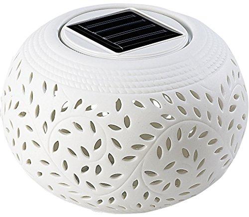 Lunartec Solar-Dekoleuchte aus Porzellan 3er-Set Farbwechsel/warmweiß