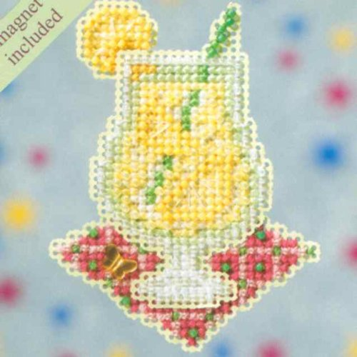 Lemonade Beaded Counted Cross Stitch Ornament Kit Mill Hill 2009 Spring Bouquet MH18-9106 by Mill Hill B0036ZV17W