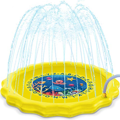 HISTOYE Outdoor Sprinkle Play Mat Summer Sprinklers for Kids 63