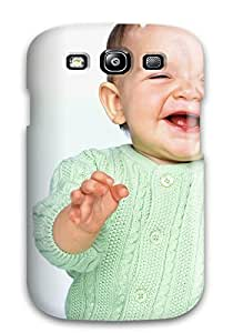 Durable Defender Case For Galaxy S3 Tpu Cover(wallpaper Of Babies Laughing )