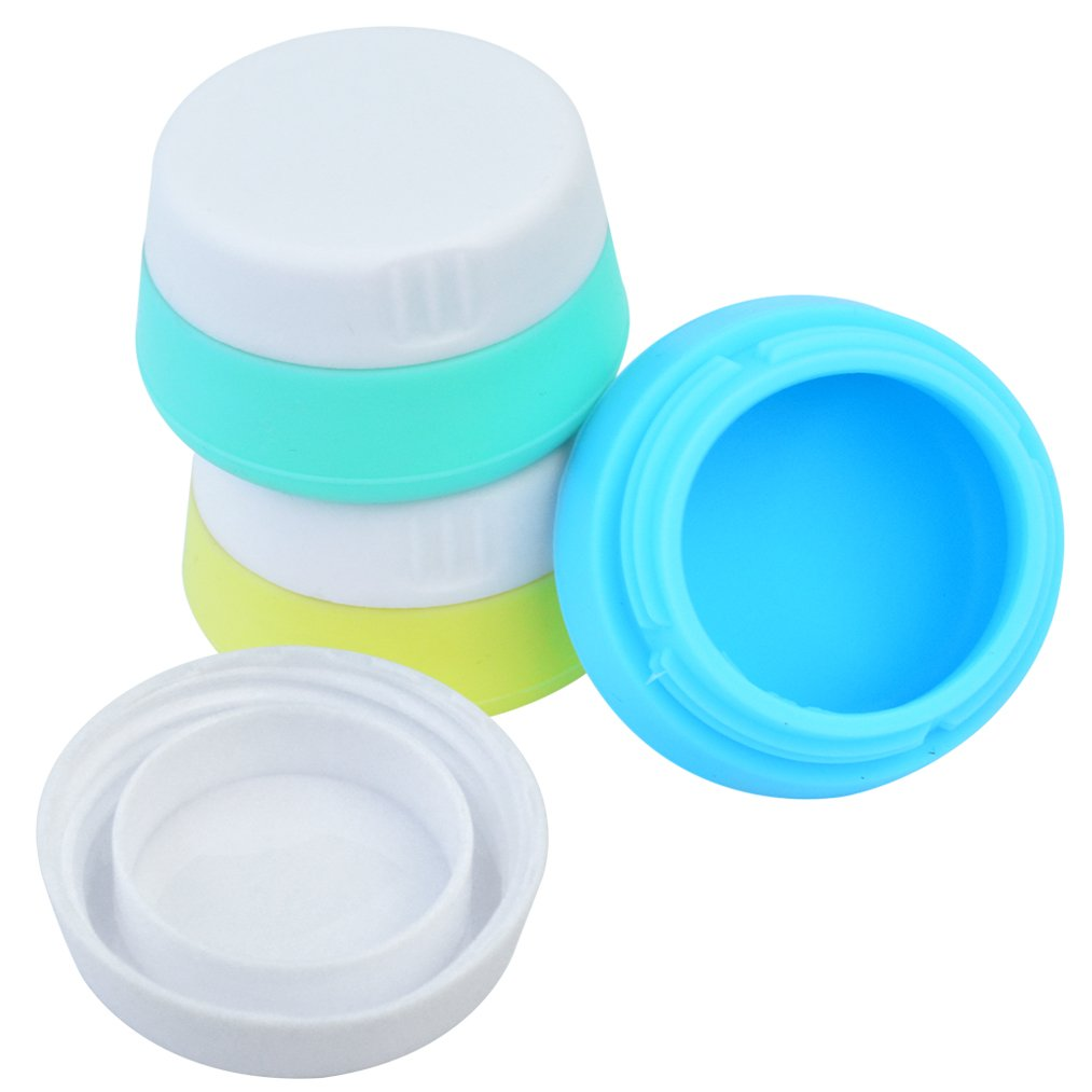 213bd9019066 Silicone Cream Jars, baotongle Travel Cream Accessories Containers with  Hard Sealed Lids 20ml 3...