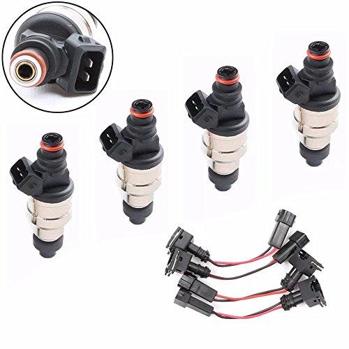(Paddsun 550cc Fuel Injectors for Honda Acura Civic Integra OBD1 OBD2 B16 B18 B20 D15 D16 D18 F22 H22 VTEC (Set of)