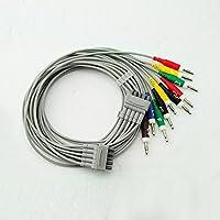 denshine 10Führen einfach Handheld tragbar ECG/EKG Kabel mit leadwire
