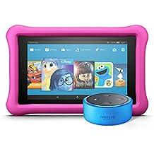 Echo Dot Kids Edition + Fire 7 Kids Edition (Blue/Pink)