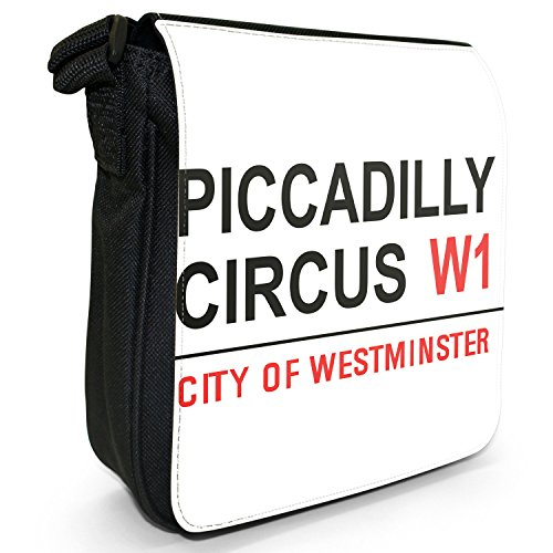 Small London Bag Sign Piccadilly Shoulder Size Street Circus West Famous End Canvas Small Landmarks Black xIU8ddH