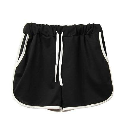 8f84a8f725 Women Shorts,Kstare Women's Summer Comfy Cotton Sport Casual Beach Shorts  Pants (Black)