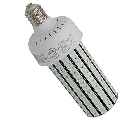 NUOGUAN 277V 400W Metal Halide ED28 Replacement 120W LED Corn Bulb 15317 Lumens E39 Base 5000K Crystal White for Highway Sports Fields