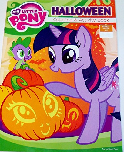 My Little Pony Friendship is Magic Holiday Coloring & Activity Book ~ Halloween (Twilight Sparkle and Spike Cover; (Halloween Connect The Dot Pages)