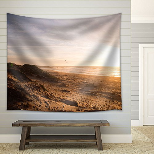 Beach at Sunset Fabric Wall