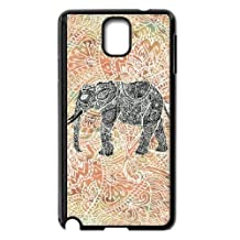 Samsung Galaxy Note 3 Cell Phone Case Black Tribal Paisley Elephant Colorful Henna Patter YE3447381