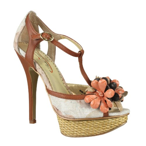 marrón de Zapatos Poetic mujer para color de talla vestir 40 tela License gWwWZqATB