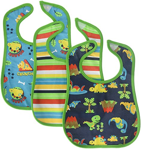 - Neat Solutions 3 Pack Printed Interlock/Water Resistant Feeder Bib, Boy