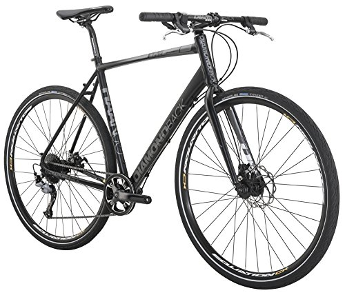 Diamondback Bicycles 2016 Haanjo Metro Complete Commuter Bike, 56cm/Large, Black