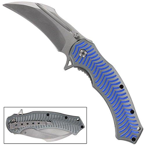 Spinal Tap Electric Blue Spring Assist Pocket Knife