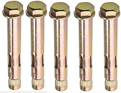 AHC K-ZYSALB1275B5 M12 x 75 mm Loose Bolt Shield Anchor - Zinc/Yellow (Pack of 5)