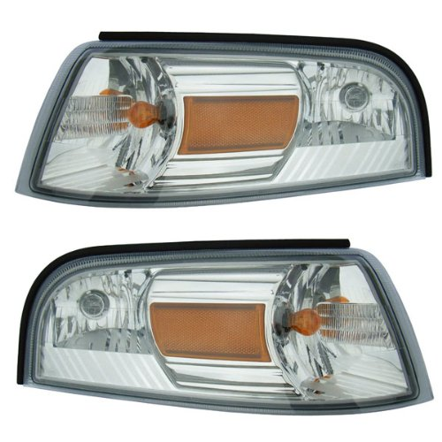 2006-2011 Mercury Grand Marquis Corner Park Light Turn Signal Marker Lamp Pair Set Right Passenger AND Left Driver Side (2006 06 2007 07 2008 08 2009 09 2010 10 2011 11)