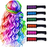 Hair Chalk for Girls Birthday Gifts,Temporary Bright Washable Hair Color Spray for Kids, Hair Chalk Comb Gift for Girls Age 4 5 6 7 8 9 10+ on Birthday Cosplay Halloween Christmas Parties