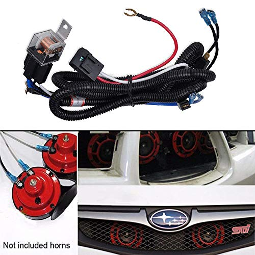 GTP 12V Horn Wiring Harness Relay Kit For Car Truck Grille Mount Blast Tone Horns