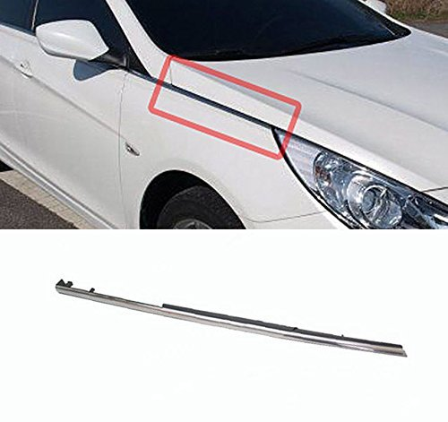 (Hyundai Motors OEM Genuine 877723S001 Front Right Fender Molding Trim 1-pc For 11 12 13 14 Hyundai i45 : YF Sonata)