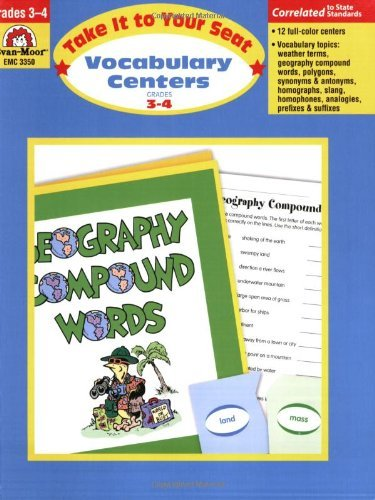 Vocabulary Centers, Grades 3-4 by Evan-Moor Educational Publishers (June 01,2006)