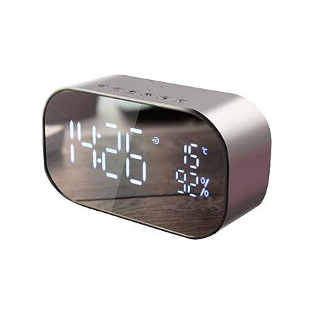 HIGGER Reloj Despertador Digital LED Despertador con Radio FM ...