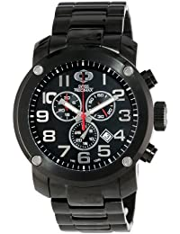 Men's SP13013 Marauder Pro Black Dial with Black Stainless Steel Band Watch