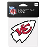 NFL Kansas City Chiefs 63052011 Perfect Cut Color Decal, 4″ x 4″, Black