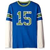 Scout + Ro Boys' Football 2-fer Tee, Symphony Blue/White, 14