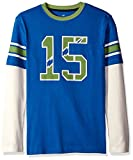 scout numbers - Scout + Ro Little Boys' Football Two-fer T-Shirt, Symphony Blue/White, 4