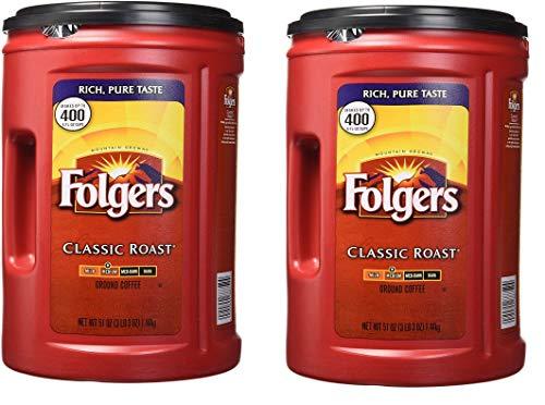 Folgers Coffee, Classic(Medium) Roast, 2 Count, 51 Ounce