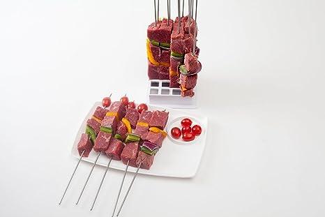 pescado Mistermoby Barbacoa de acero inoxidable para asar pinchos de carne en un palo original pan longitud 80 cm kebab