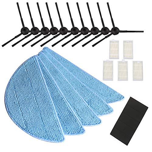 - Haihuic Replacement Accessories Parts for ILIFE V3 V3s V5 V5s V5s Pro X5 V55 Robot Vacuum Cleaner 10pcs Side Brush + 5pcs HEPA Filter + 5pcs Mop Cloth + 5pcs Magic Strap