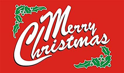 amazon com merry christmas 3 red 3x5 brand new large christmas