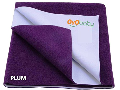 Waterproof Dog Sheet - OYO BABY -100% Waterproof Mattress Protector/16 Cups Water Absorbency/Hypoallergenic/Anti-slip/Crib Sheets/Pads/Absorbent Sheet/Diaper changing pad cover/mat (Large -140cm X 100cm Plum)