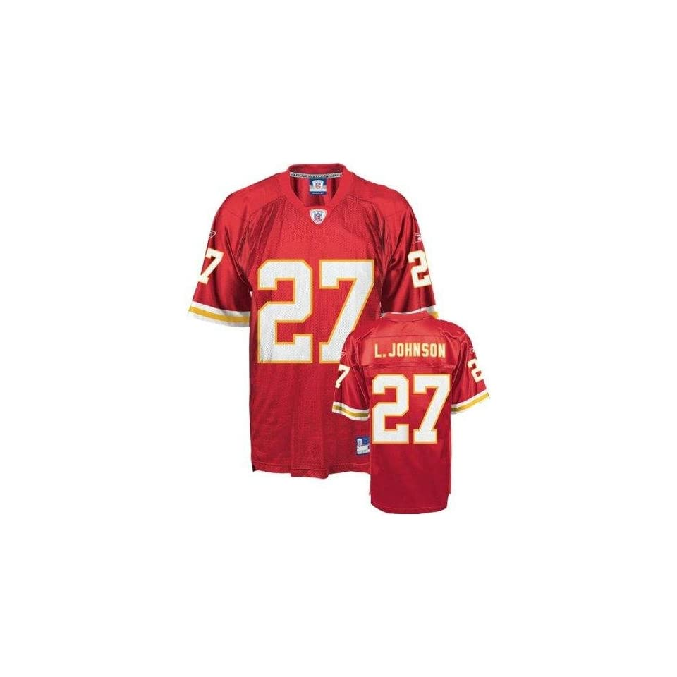 Larry Johnson #27 Kansas City Chiefs NFL Replica Player Jersey (Team Color) (Large)   Large
