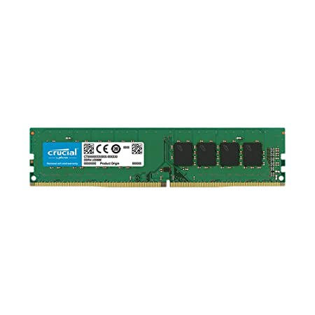Crucial 8GB DDR4 1.2v 2400Mhz CL17 UDIMM RAM Memory Module for Desktop Internal Memory Card Readers at amazon