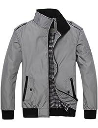 Mens Casual Jacket Outdoor Sportswear Windbreaker Lightweight Bomber Jackets and Coats
