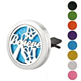 stainless steel microwave Jenia Stainless Steel Car Air Freshener Aromatherapy Essential Oil Diffuser Locket With Vent Clip 30mm