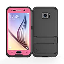 Galaxy S6 Waterproof Case, iThroughTM Samsung Galaxy S6 Waterproof Case, Dust Proof, Snow Proof, Shock Proof Case with Screen Protector, Heavy Duty Protective Carrying Cover Case for Galaxy S6 (Pink)