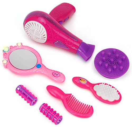 Liberty Imports Vogue Girls Beauty Salon Fashion Play Set with Hairdryer, Mirror & Styling Accessories by Liberty Imports (Image #3)