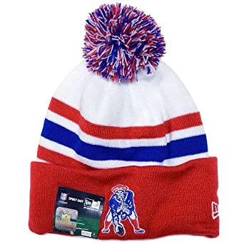 4e17dba8f1d Image Unavailable. Image not available for. Color  New England Patriots  Vintage On Field Classic Knit Cuffed Pom Knit Cap Beanie. New Era