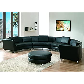 Amazoncom modern line furniture 8004b g9 contemporary for Curved sectional sofa amazon