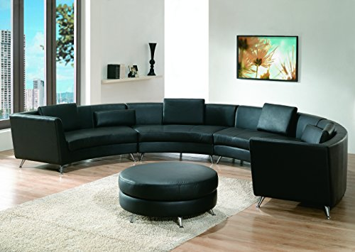 Modern Line Furniture 8004B-G9 Contemporary Leather Long