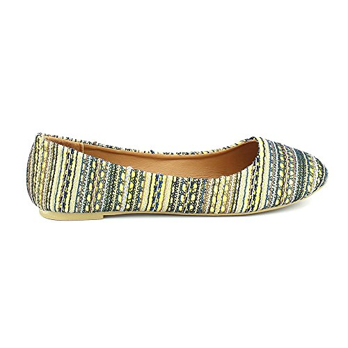WestCoast Fancy-01 Women's Multi-Colored Tribal Printed Plush Fashion Flat Shoes Grey 9