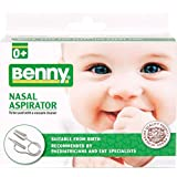 BENNY Nasal Aspirator - snotsucker -the most effective nose cleaner for sinus congestion cold and flu. Safe, gentle and fast nose suction for newborns children even for 7yrs