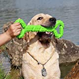 Dog Chew Toys Indestructible for Aggressive Large Dog, Durable Long Lasting Strong Tough TPR Rubber Bone Shape Tooth Cleaning Toys Perfect to Relieve Pets Boredom Interactive Training Toys Suitable for Medium and Large Dogs