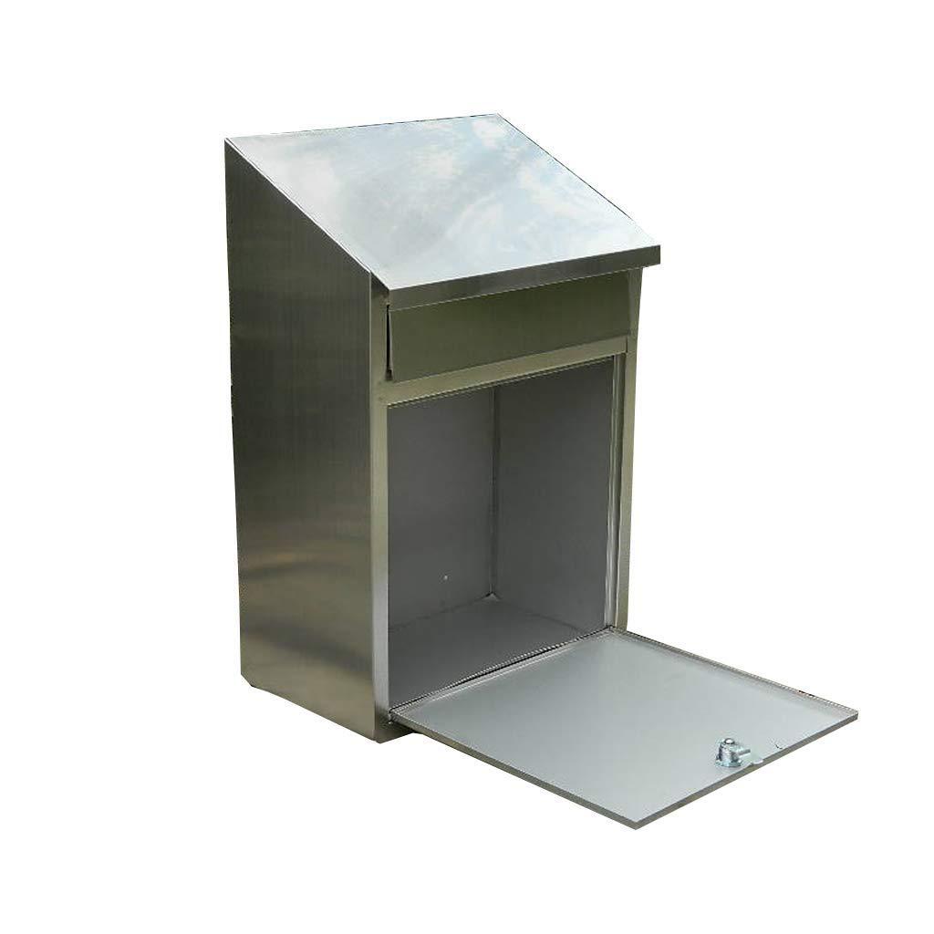 SCMAI Irvingメールボックス外側304ステンレス鋼ウォールマウントポストボックス安全なメールボックスレターボックス屋外レトロヴィンテージメールボックス   B07RSMN86K